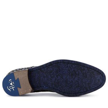 Floris van Bommel Premium men's lace shoe with crocodile print