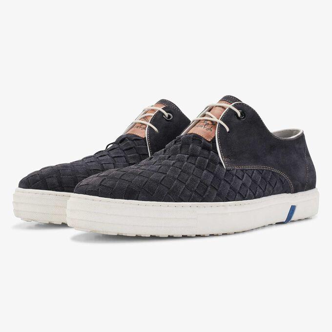 Floris van Bommel donkerblauwe suède heren city sneaker