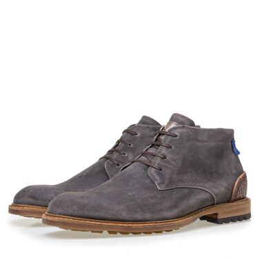 Floris van Bommel leather men's lace boot