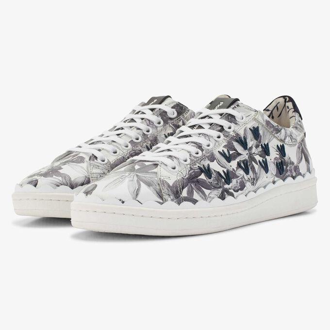 Floris van Bommel witte leren dames sneaker