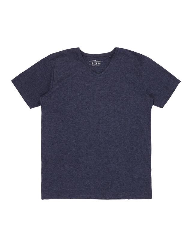 Herren Regular Fit T-Shirt in Melangeoptik
