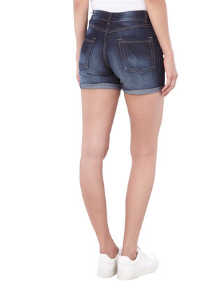 Damen Stone Washed Jeansshorts
