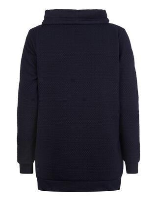 Damen Sweatshirt mit Tube Collar in Wickeloptik