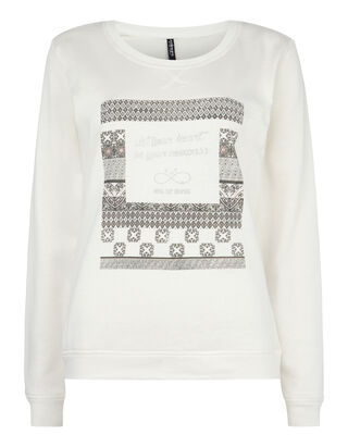 Damen Sweatshirt mit Message-Print