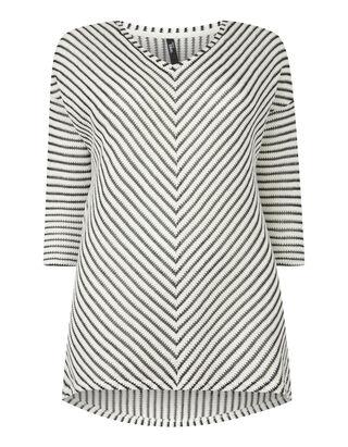 Damen Pullover mit Zickzack-Muster