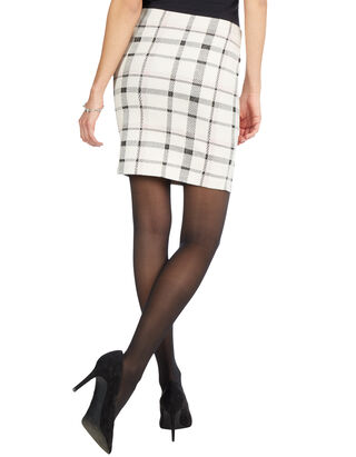 Damen Minirock mit Gittermuster