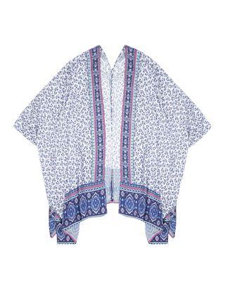 Mädchen Kimono mit Allover-Muster
