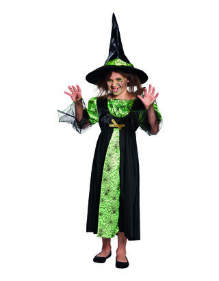 Mädchen Kostüm Spinnen Hexe