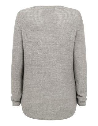 Damen Pullover mit leicht verlängerter Rückseite