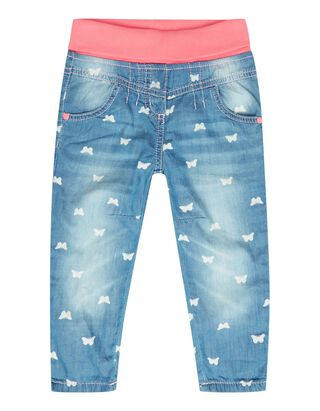 Baby Jeans mit Schmetterlingsmuster