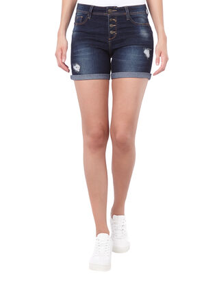 Damen Dirty Washed Jeansshorts