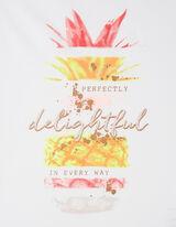 Damen T-Shirt mit Frucht-Print und Message
