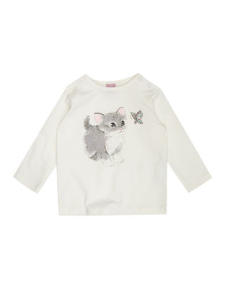 Newborn Longsleeve mit Katzen-Print