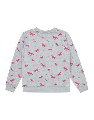 Mädchen Sweatshirt mit Pferde-Print