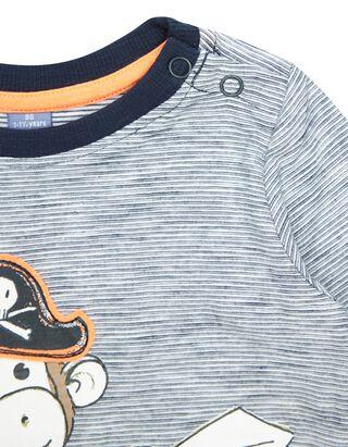 Baby Longsleeve mit Piraten-Print