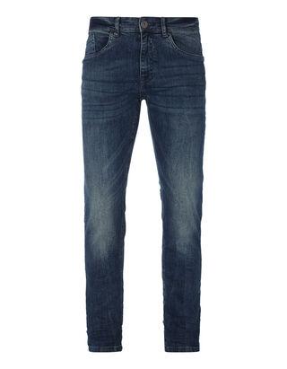Herren Slim Fit Stone Washed 5-Pocket-Jeans