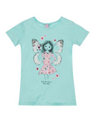 Mädchen T-Shirt mit Katzen-Print