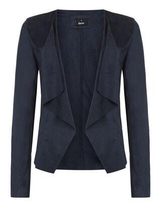 Damen Jacke in Velourslederoptik