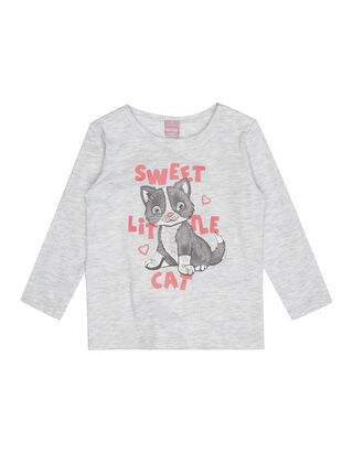 Baby Longsleeve mit Katzen-Print