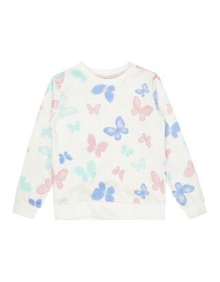 Mädchen Sweatshirt mit Schmetterlings-Print