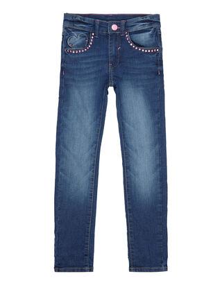 Mädchen Slim Fit Jeans mit Ziersteinbesatz