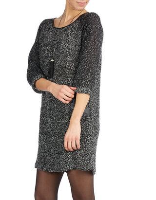 Damen Kleid in Boucléoptik