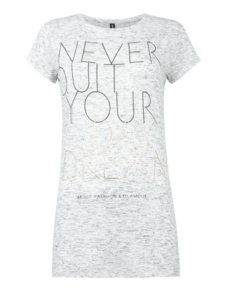 Damen Shirt mit Message-Print