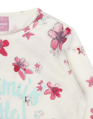 Baby Longsleeve mit floralem Print