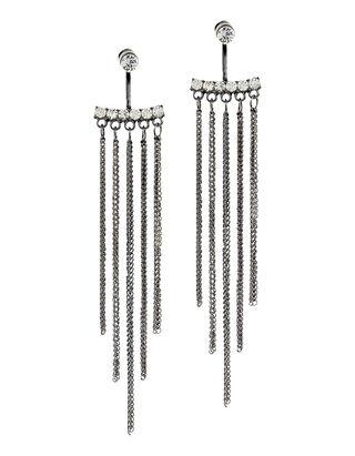Damen Ohrringe mit Strasssteinen