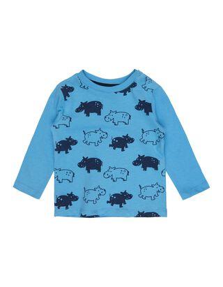 Newborn Shirt mit Nilpferd-Print