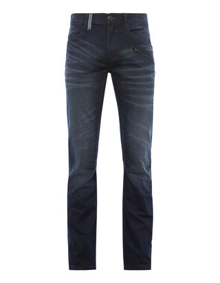 Herren Stone Washed Straight Fit 5-Pocket-Jeans
