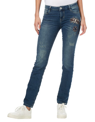 Damen Straight Fit 5-Pocket Jeans