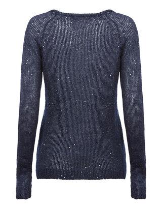 Damen Pullover mit Pailletten-Besatz