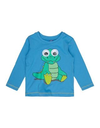 Baby Longsleeve mit Krokodil-Print