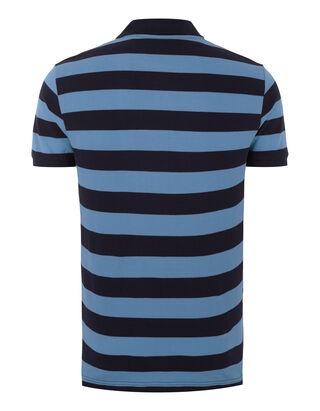 Herren Regular Fit Poloshirt mit Streifenmuster