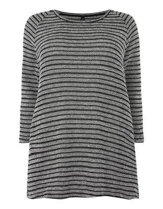 Damen Sweatshirt mit Streifenmuster