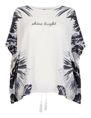 Damen Shirt mit Palmenmuster