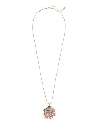 Damen Halskette mit floralem Anhänger