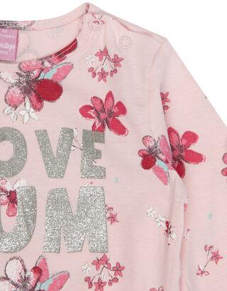 Baby Longsleeve mit Blüten-Print