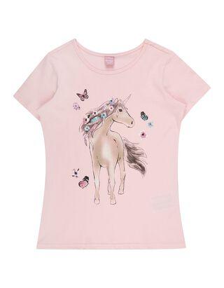 Mädchen T-Shirt Print und Glitter-Effekt