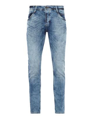 Herren Slim Fit 5-Pocket-Jeans im Used Look
