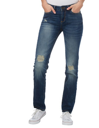 Damen Straight Fit 5-Pocket-Jeans