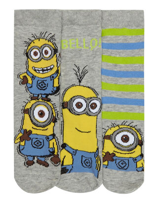 Jungen Minion™-Socken im 3er-Pack