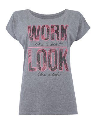 Damen Shirt mit Message-Print