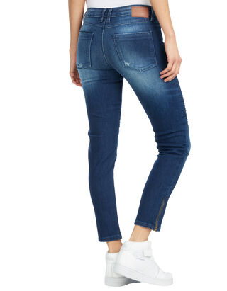 Damen Skinny Fit Jeans im Used Look