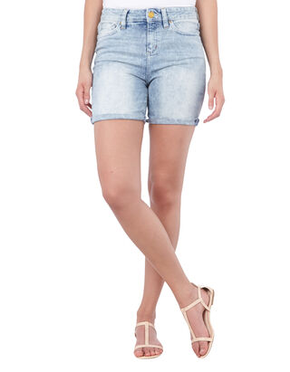 Damen High Waist Jeansshorts