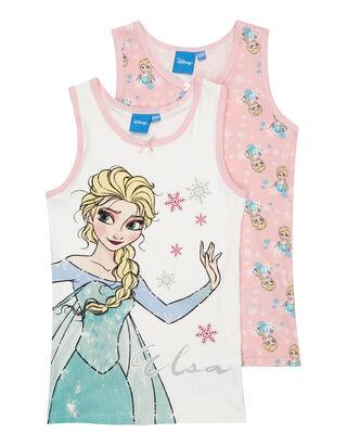Mädchen Frozen©-Unterhemden im 2er-Pack