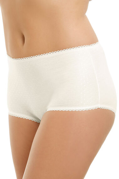 Textured Spot Front Panel Full Brief