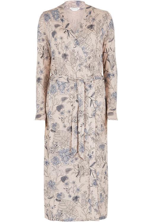 Oatmeal Print Viscose Robe