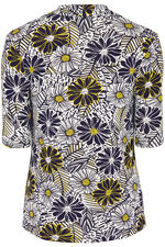 Floral Printed V Neck Top